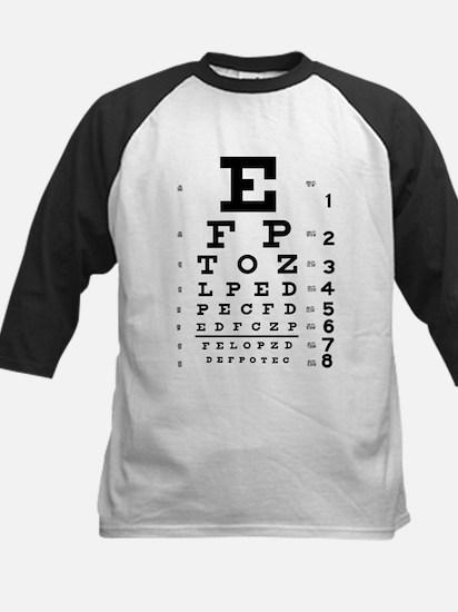 Eye Test Kids Baseball Jersey