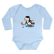 I Like Ice Hockey Long Sleeve Infant Bodysuit