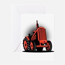 vintage farm tractor Greeting Cards (Pk of 20)