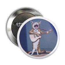 """Folk Singer/Guitar Player Cat 2.25"""" Button (10 pac"""