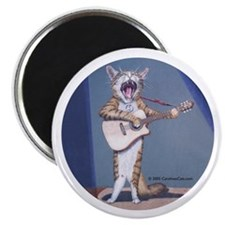 Folk Singer/Guitar Player Cat Magnet