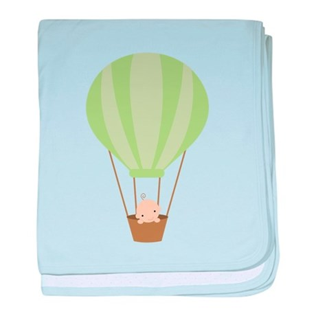 Baby in a Hot Air Balloon baby blanket