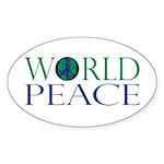 World Peace Sticker (Oval 10 pk)