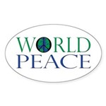 World Peace Sticker (Oval 50 pk)