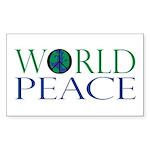 World Peace Sticker (Rectangle 50 pk)