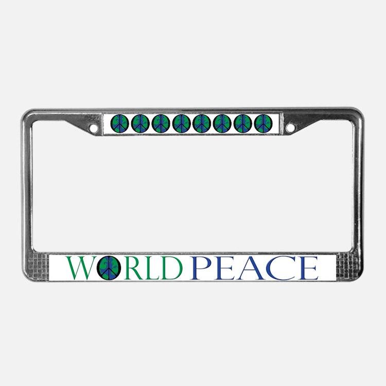 World Peace License Plate Frame
