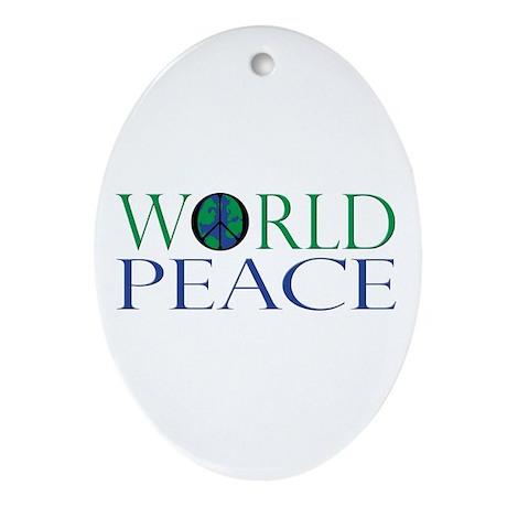 World Peace Ornament (Oval)