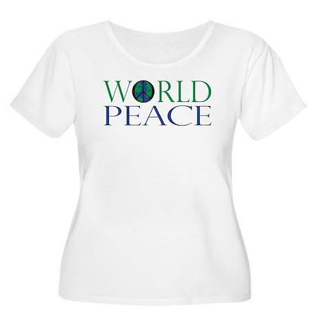 World Peace Women's Plus Size Scoop Neck T-Shirt