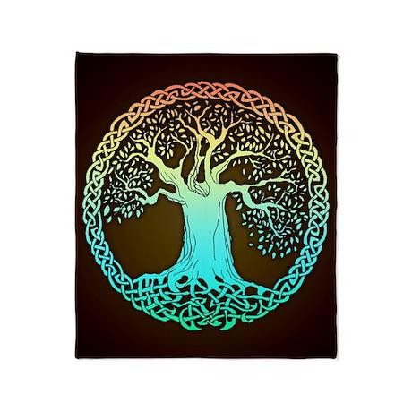 Celtic Wisdom Tree Blanket (1-sided)