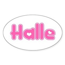 """""""Halle"""" Oval Decal"""