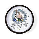 Wood Clan Badge Wall Clock