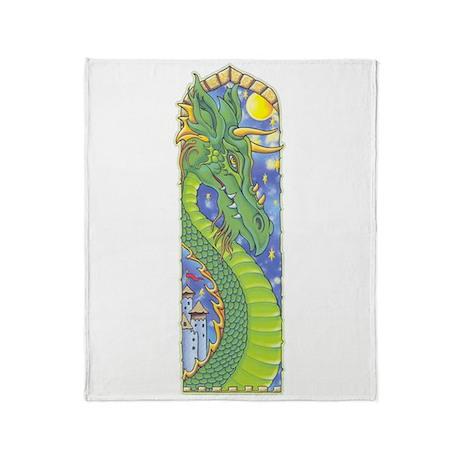 Dragon Bookmark Throw Blanket