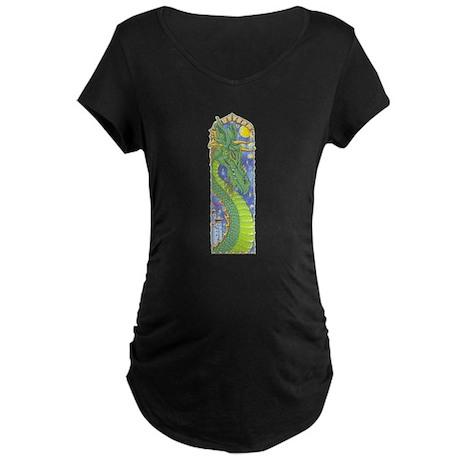 Dragon Bookmark Maternity Dark T-Shirt