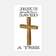 Jesus Saved, Atheist Rectangle Decal