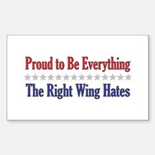 Everything They Hate Rectangle Decal