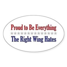 Everything They Hate Oval Decal