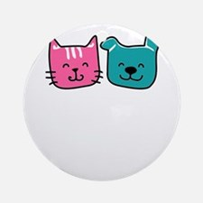 cats and dogs Round Ornament