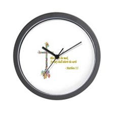 Blessed are the meek Wall Clock