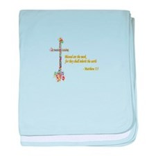 Blessed are the meek Infant Blanket