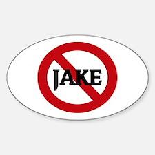 Anti-Jake Oval Decal