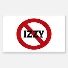 Anti-Izzy Rectangle Decal