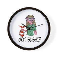 Got Sushi? Wall Clock