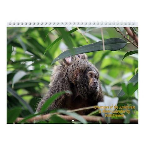 Creatures Of The Rainforest- Wall Calendar