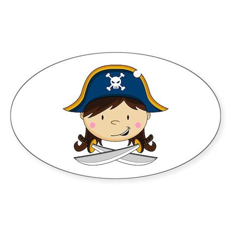 Cute Pirate Girl Sticker
