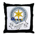Wardlaw Clan Badge Throw Pillow
