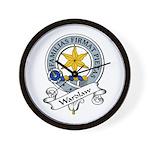 Wardlaw Clan Badge Wall Clock
