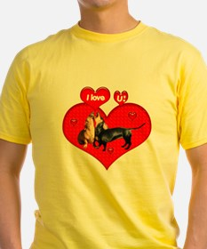 I Love You Dachshunds Dogs T