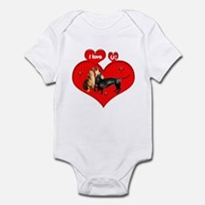 I Love You Dachshunds Dogs Infant Creeper