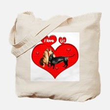I Love You Dachshunds Dogs Tote Bag
