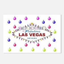 Las Vegas Christmas Ornaments Postcards (Pkg of 8)