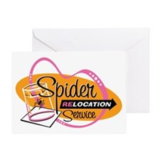 Spider Relocation Service Greeting Card