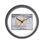 Polar Bear Photo Wall Clock