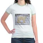 Polar Bear Photo (Front) Jr. Ringer T-Shirt