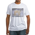 Polar Bear Photo (Front) Fitted T-Shirt