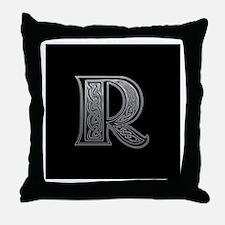 R Monogram Throw Pillow