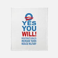 Anti Barack Obama Throw Blanket