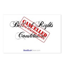 """""""Bill of Rights Cancelled"""" Postcards (8)"""