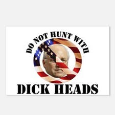 Do Not Hunt With Dick Heads Postcards (Package of