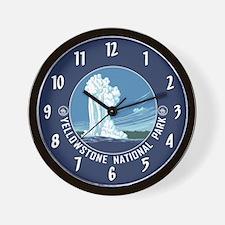 Yellowstone Travel Souvenir Wall Clock