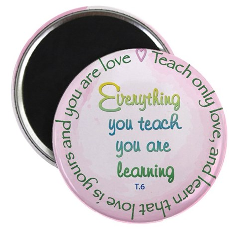 """Teach Only Love 2.25"""" Magnet (10 pack)"""