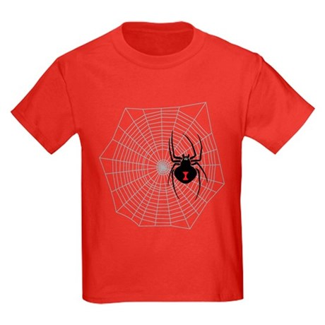 Creep Crawly Spider Web Kids Dark T-Shirt