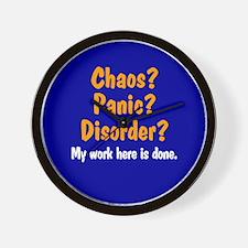 Chaos? Panic? Disorder? Wall Clock