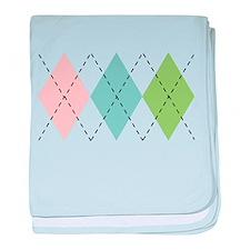 Pastel Argyle Infant Blanket