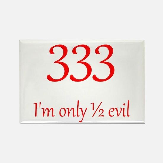 333: Half Evil Rectangle Magnet