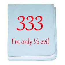 333: Half Evil baby blanket
