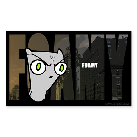 Foamy (Name Design) Sticker (Rectangle)